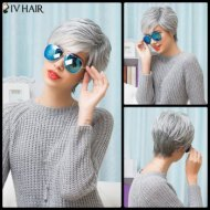 DL Short Human Hair Wig